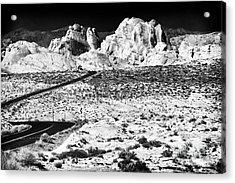 Winding In The Desert Acrylic Print by John Rizzuto