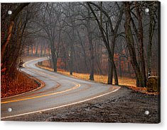 Winding Misty Road Acrylic Print
