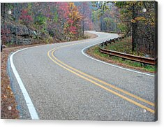 Acrylic Print featuring the photograph Winding Roads In Autumn by Gregory Ballos