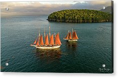 Windjammer Cruises  Acrylic Print