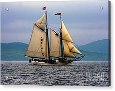 Windjammer Lewis R French Acrylic Print by Jim Beckwith