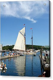 Windjammer Reflection Acrylic Print by Erica Rickards