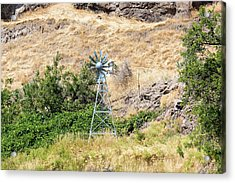 Windmill Aerator For Ponds And Lakes Acrylic Print