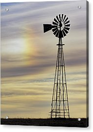 Windmill And Sun Dog Acrylic Print