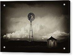 Windmill And Tank Acrylic Print by Gus McCrea