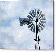 Acrylic Print featuring the photograph Windmill Art -010 by Rob Graham