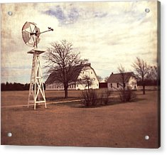 Acrylic Print featuring the photograph Windmill At Cooper Barn by Julie Hamilton