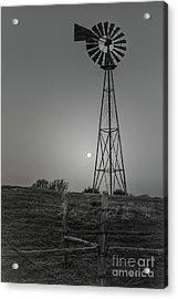 Acrylic Print featuring the photograph Windmill At Dawn by Robert Frederick
