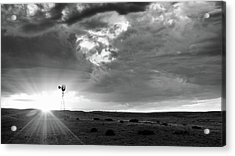 Acrylic Print featuring the photograph Windmill At Sunset by Monte Stevens