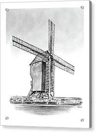 Windmill At Valmy Acrylic Print by Greg Joens