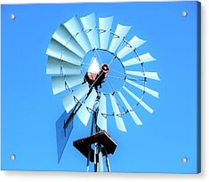 Acrylic Print featuring the photograph Windmill - Bright Sunny Day by Ray Shrewsberry