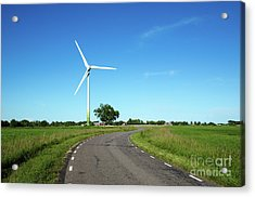 Acrylic Print featuring the photograph Windmill By A Country Road Side by Kennerth and Birgitta Kullman