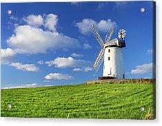 Windmill Acrylic Print by Drew McAvoy