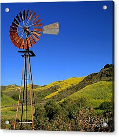 Acrylic Print featuring the photograph Windmill by Henrik Lehnerer
