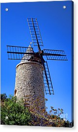 Acrylic Print featuring the photograph Windmill In Provence by Olivier Le Queinec