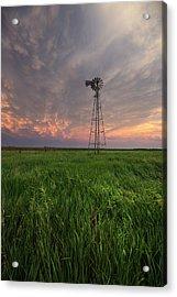 Acrylic Print featuring the photograph Windmill Mammatus by Aaron J Groen