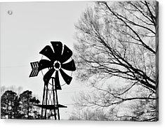 Windmill On The Farm Acrylic Print