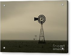 Windmill Perspective Acrylic Print by Fred Lassmann