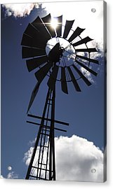 Windmill Silhouette  Acrylic Print by Kandie  Kingery