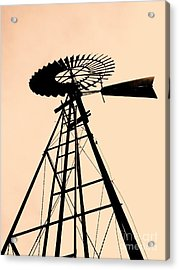 Windmill Standing Tall Acrylic Print by Christine Belt