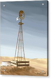 Windmill Acrylic Print by Terry Frederick