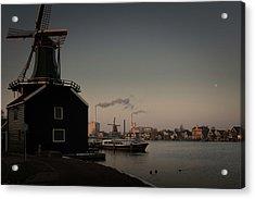Windmill Town Acrylic Print