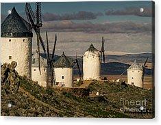 Acrylic Print featuring the photograph Windmills Of La Mancha by Heiko Koehrer-Wagner