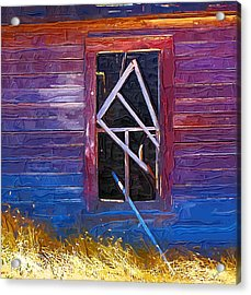 Acrylic Print featuring the photograph Window-1 by Susan Kinney
