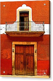 Window Above The Wooden Door Acrylic Print by Mexicolors Art Photography
