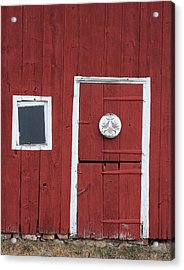 Window And Door Acrylic Print by Robert Sander