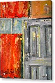 Window And The Pantry Door Acrylic Print by Diane Fiore