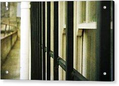 Window Bars Acrylic Print by Cathie Tyler