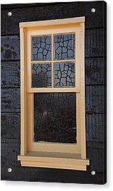 Window Crackle Acrylic Print