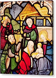 Window Depicting The Adoration Of The Magi Acrylic Print by French School