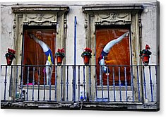 Window Dressing 2 In Florence Italy Acrylic Print