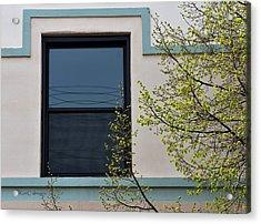 Window Framed And Frilled Acrylic Print by Kae Cheatham