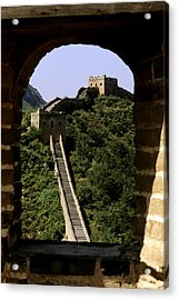 Window Great Wall Acrylic Print by Bill Bachmann - Printscapes