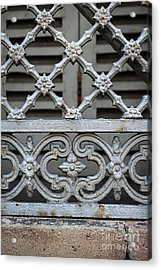 Window Grill In Toulouse Acrylic Print