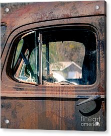 Window In Rural America  Acrylic Print by Steven Digman