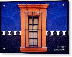 Window In San Miguel De Allende Acrylic Print by Linda  Parker