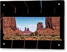 Window Into Monument Valley Acrylic Print by Eduard Moldoveanu