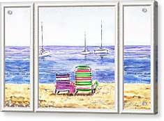 Window Of The Beach House Acrylic Print by Irina Sztukowski