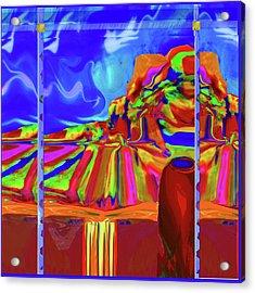 Window On Santa Fe Acrylic Print