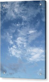 Window On The Sky In Israel During The Winter Acrylic Print by Yoel Koskas