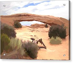 Acrylic Print featuring the digital art Window On The Valley by Gary Baird