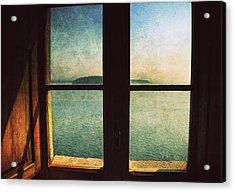 Window Overlooking The Sea Acrylic Print