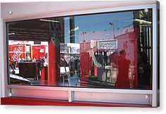 Window Reflections At The Speedway Acrylic Print