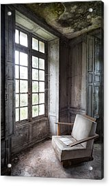 Window Seat - Abandoned Building Acrylic Print by Dirk Ercken