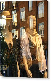 Window Shopping Acrylic Print by Michael Canning