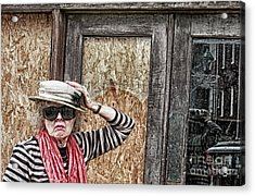 Window Shopping - Rural America Acrylic Print by Steven Digman